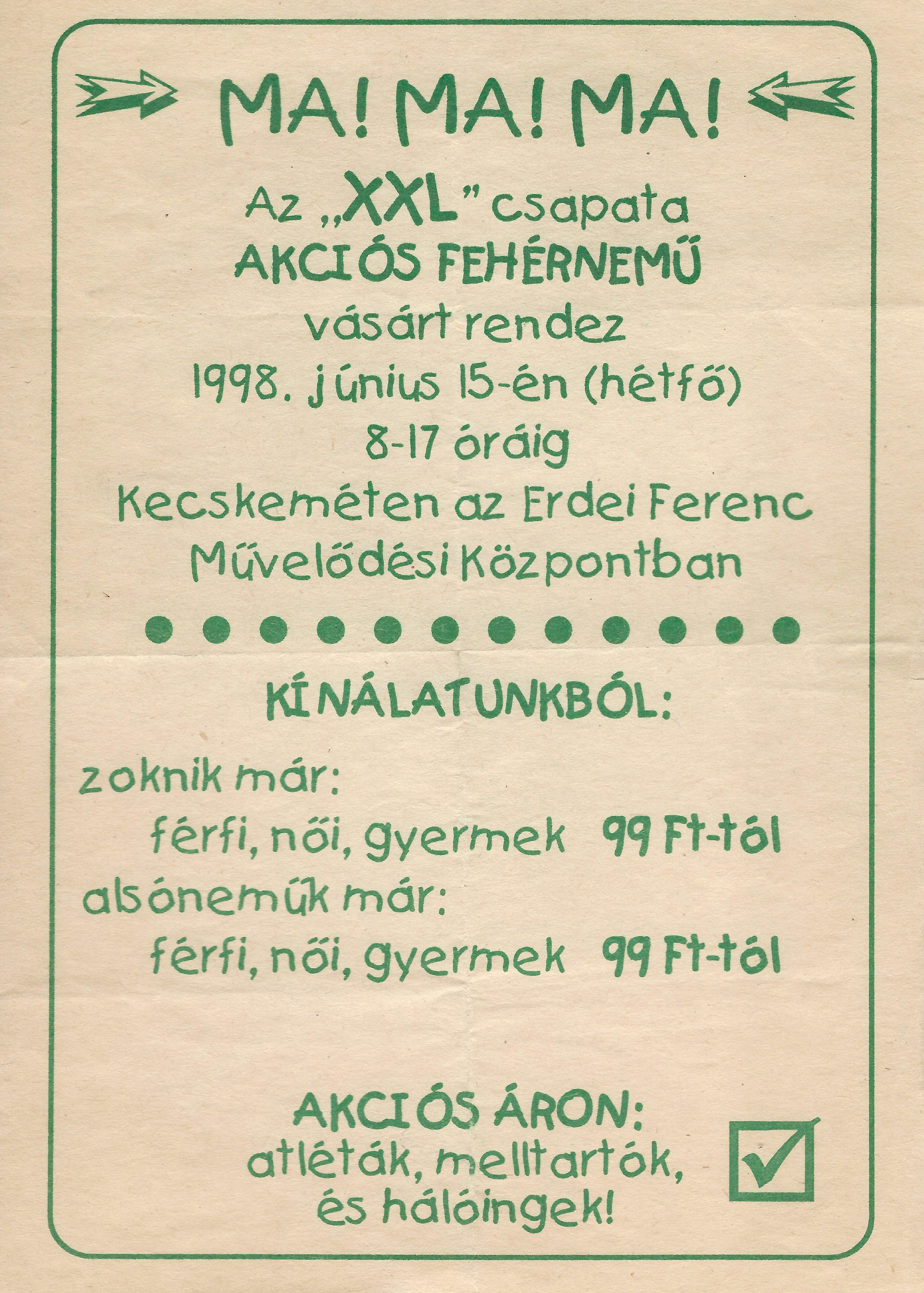 Hungarian National Digital Archive • Akciós fehérnemű vásár f46523d130