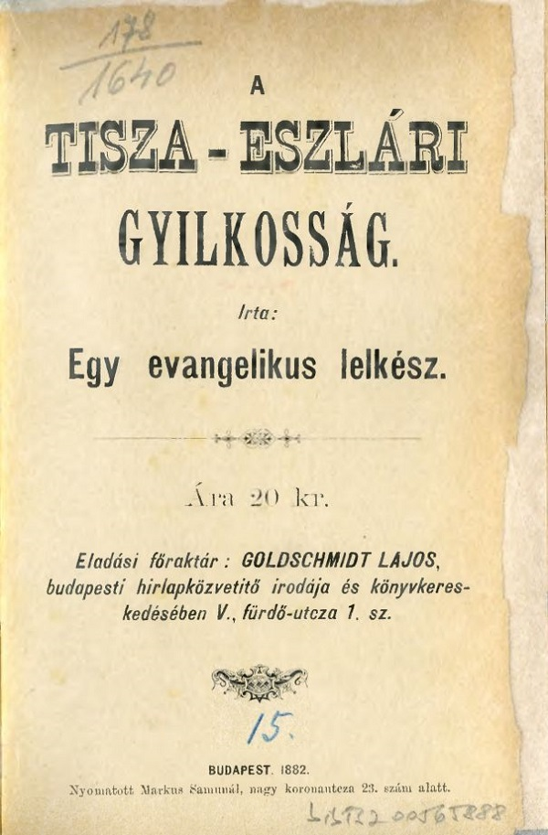 Hungarian National Digital Archive • Crimes at the turn of